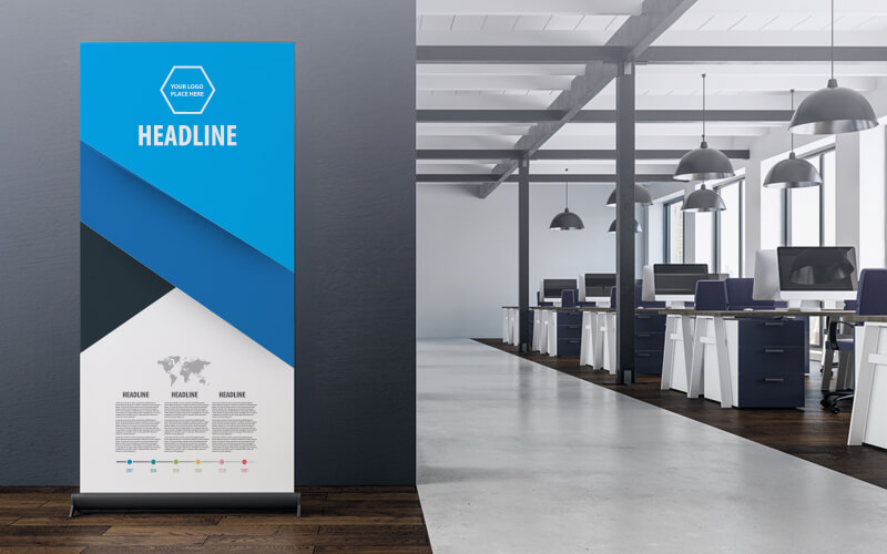 A Printed Pull Up Banner