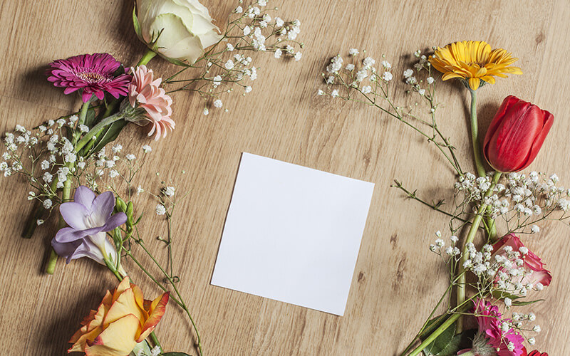 A Blank Engagement Invitation