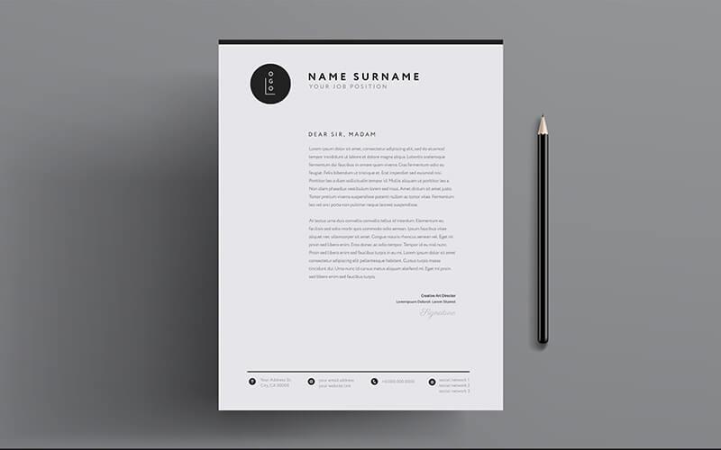 A Custom Designed Letterhead