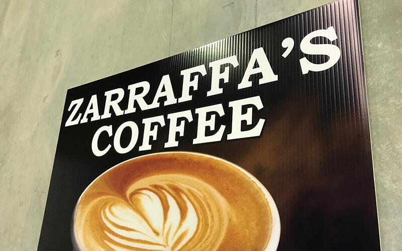 Zarraffa's Corflute Sign