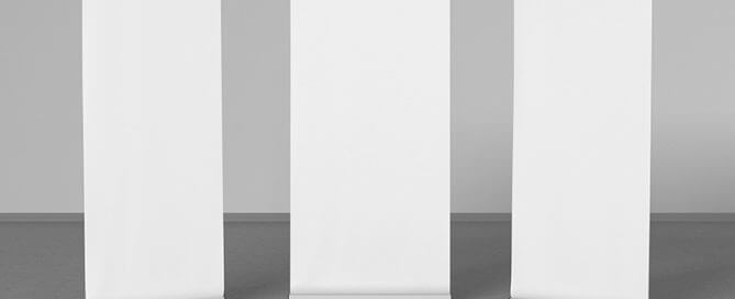 Three Blank Pull Up Banners