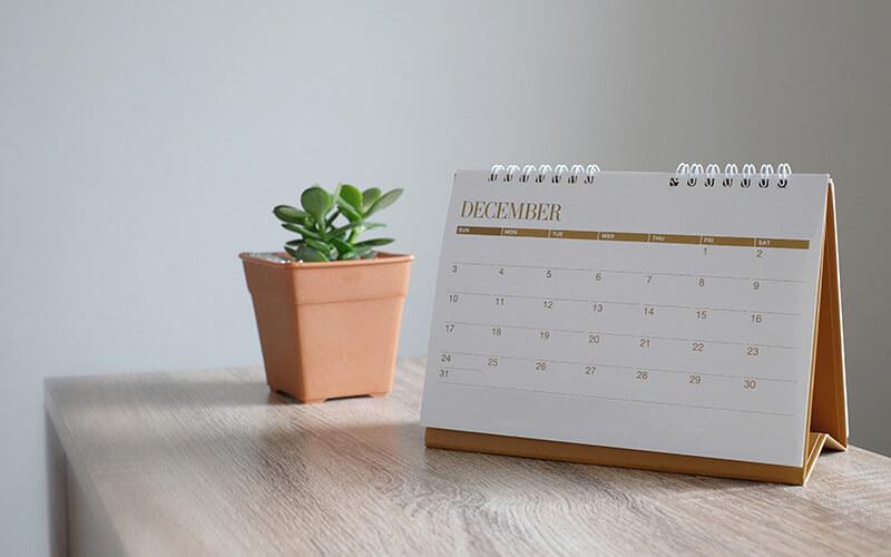 A Desktop Calendar