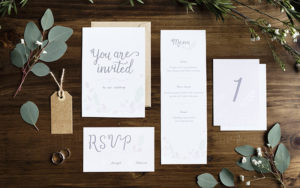 Wedding Invitations On A Table