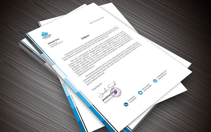 Full Colour Printed Letterheads