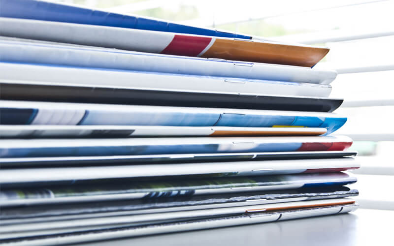 Saddle Stitch Booklets Stacked