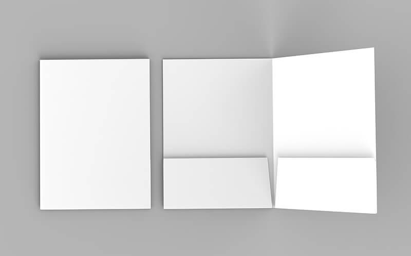 A Blank Presentation Folder