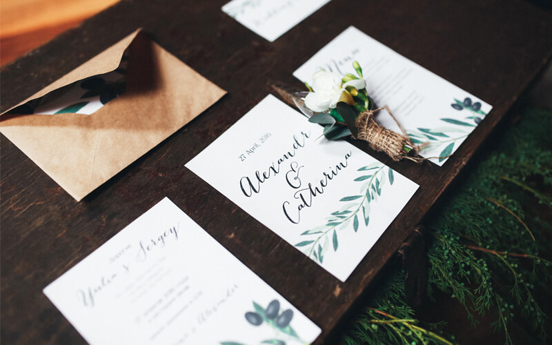 Interesting Wedding Invitation Ideas: Island Printing Gold Coast