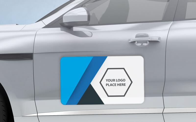 A Custom Printed Car Magnet