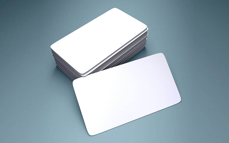 A Stack Of Blank Magnet Business Cards