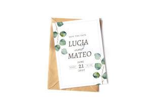Printed custom wedding invitation