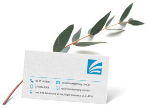 A sample of a business card in uncoated stock